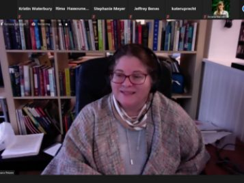 Barbara Petzen presenting to educators on March 18, 2021 via Zoom