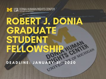 Donia Grad Fellowship News Story Photo