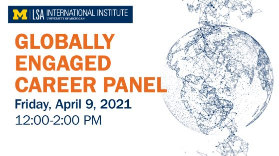 Globally Engaged Career Panel. Click image for YouTube video.